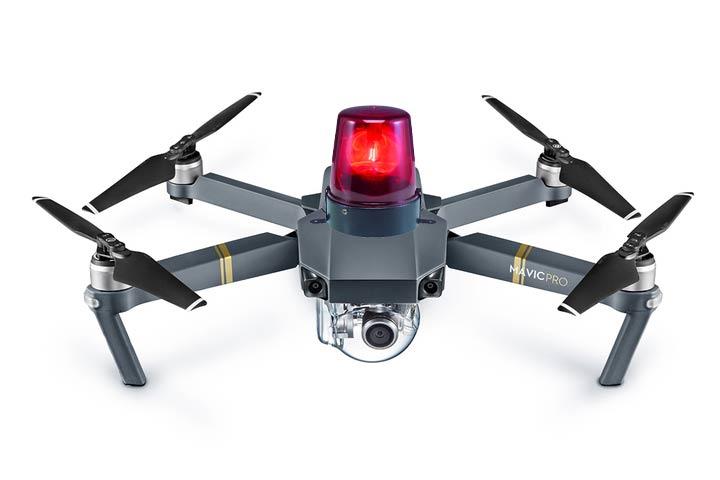 Mira al cielo, ese drone es de la policía y te está vigilando