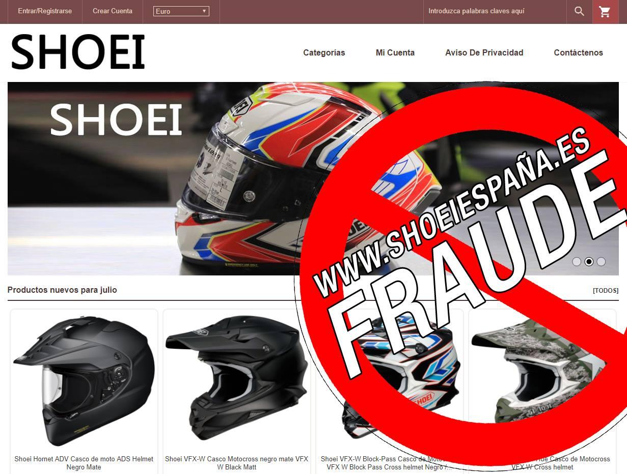 Shoei da la alarma, están vendiendo cascos chinos en vez de los originales