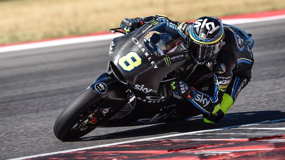 Nicolò Bulega prueba la Kalex de Moto2 del Sky Racing Team VR46