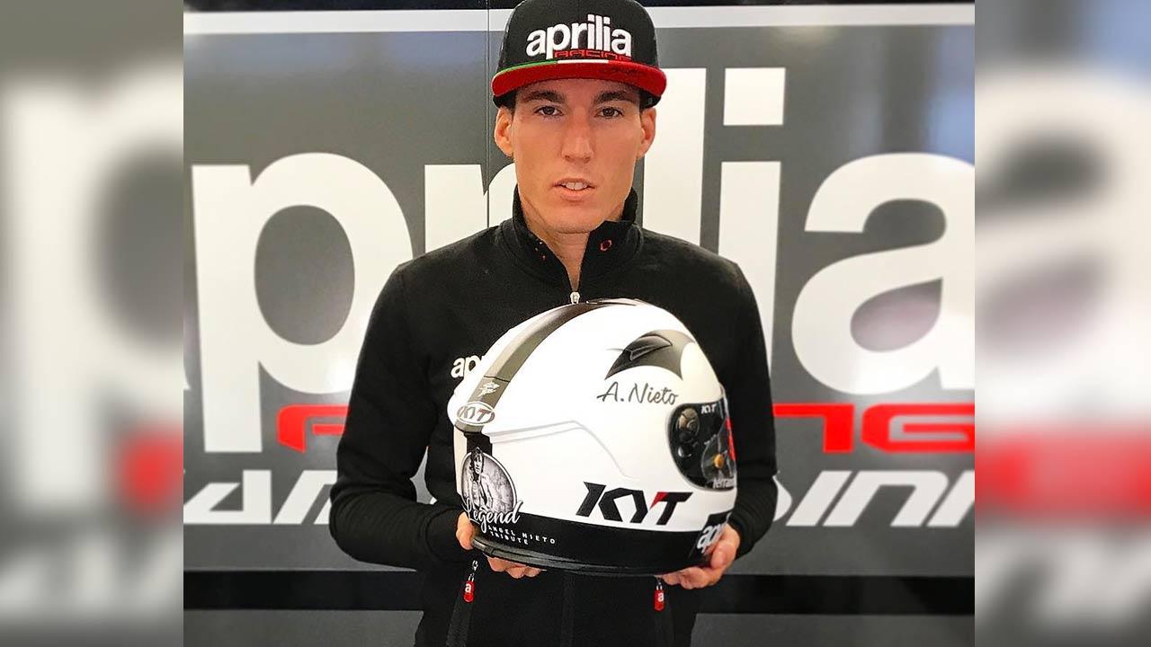 Aleix Espargaró lucirá un casco en homenaje a Ángel Nieto en Austria