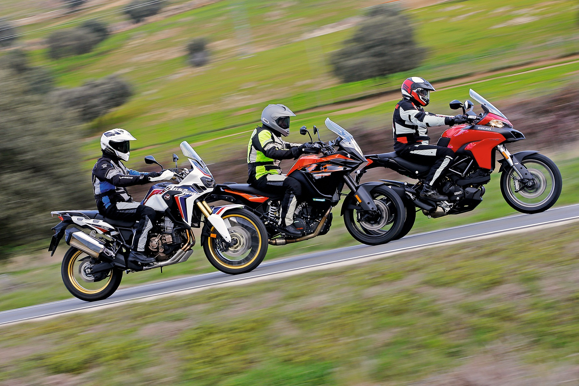 Comparativa trail: Honda Africa Twin vs Ducati Multistrada 950 vs KTM 1090 Adventure