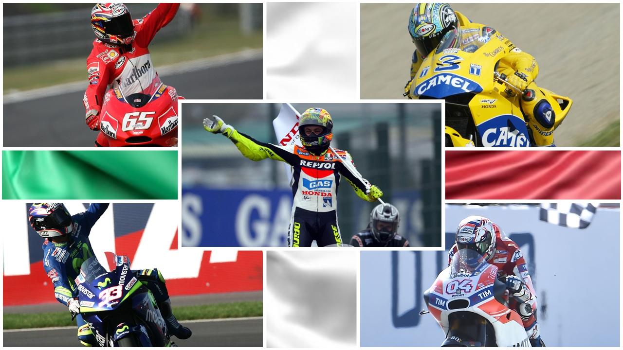 100 victorias de Italia en MotoGP: Desde Valentino Rossi hasta Andrea Dovizioso