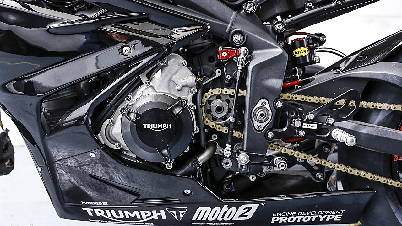 Triumph nos enseña en un vídeo cómo sonará el futuro tricilíndrico de Moto2