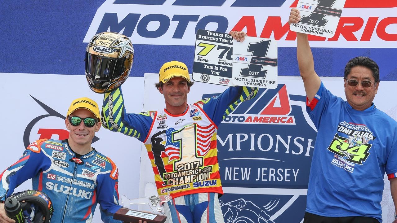 Toni Elías conquista el título del MotoAmerica 2017 con una victoria épica