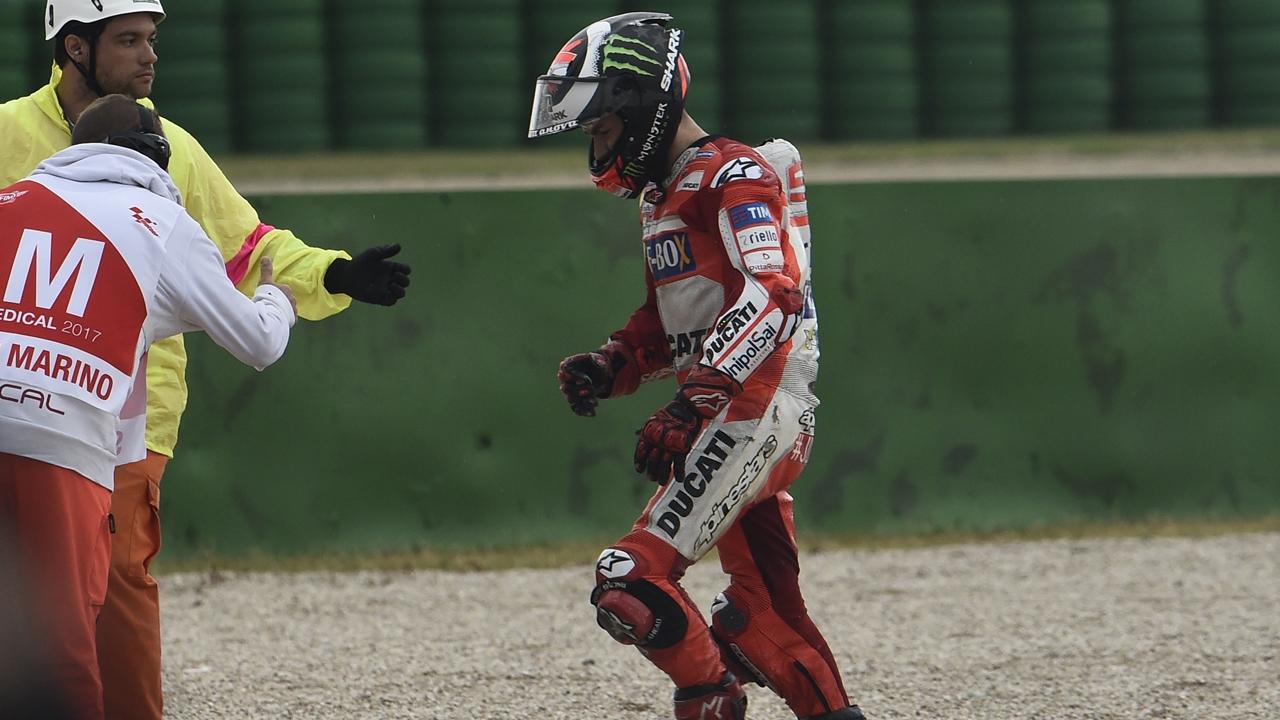 """Jorge Lorenzo: """"Podía haber optado a la victoria, pero he perdido la concentración"""""""