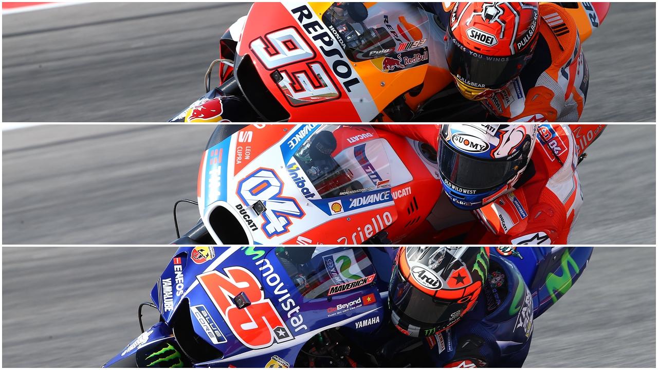 Marc Márquez, Andrea Dovizioso, Maverick Viñales y el título de MotoGP 2017