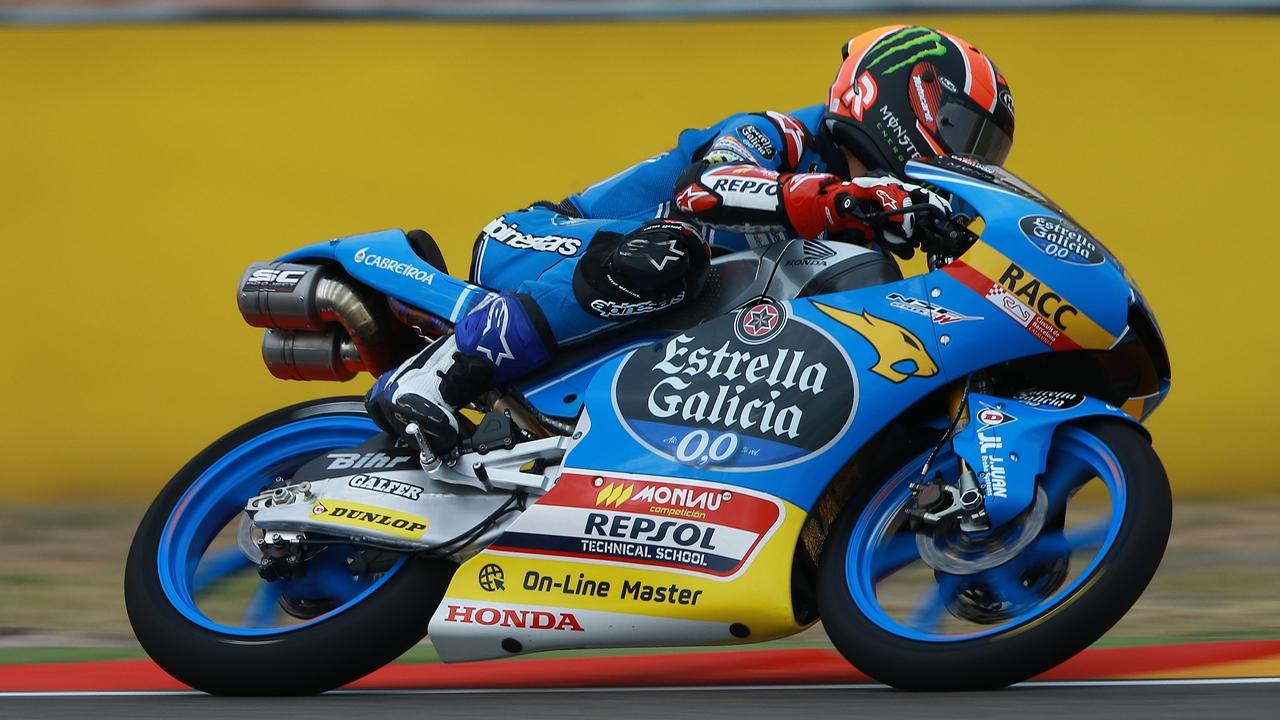 Arón Canet y Joan Mir se reparten el viernes de Moto3 en Aragón