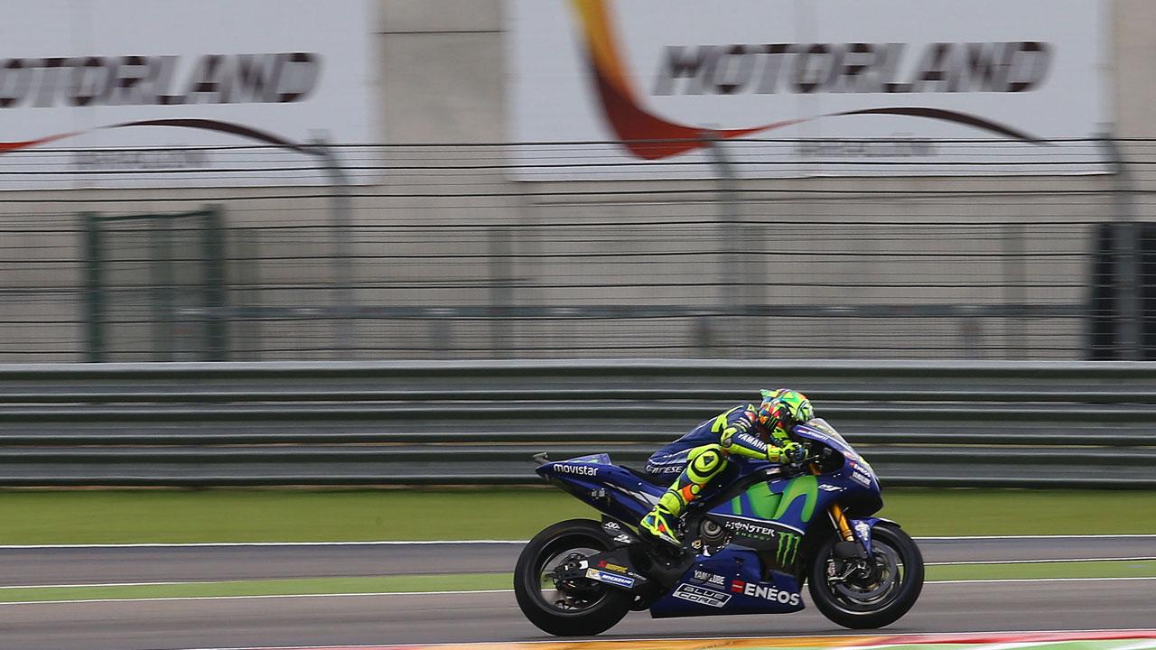 Valentino Rossi encuentra un aliado en el agua