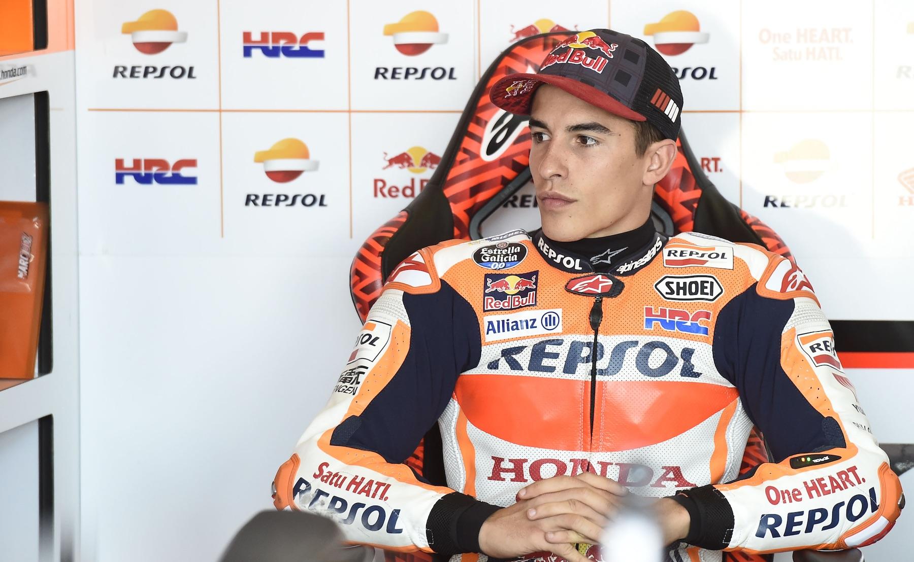 """Marc Márquez: """"Sorprendente cómo Valentino ha gestionado el riesgo, luchará por el podio"""""""