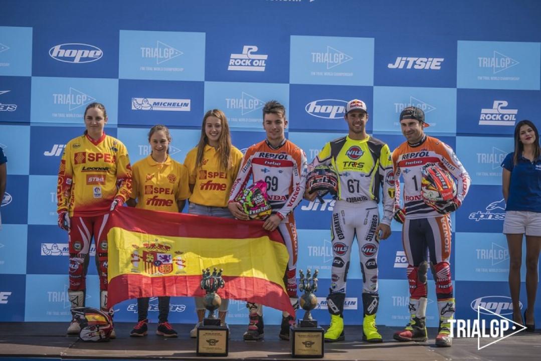 España arrasa en el Trial de las Naciones con doble victoria, Féminas y World Trophy