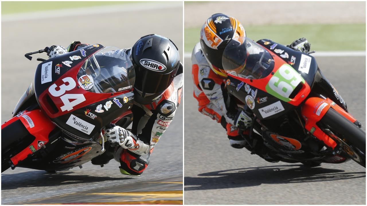 Pedro Acosta y Marcos Ruda, campeones de España de PreMoto3 y Moto4