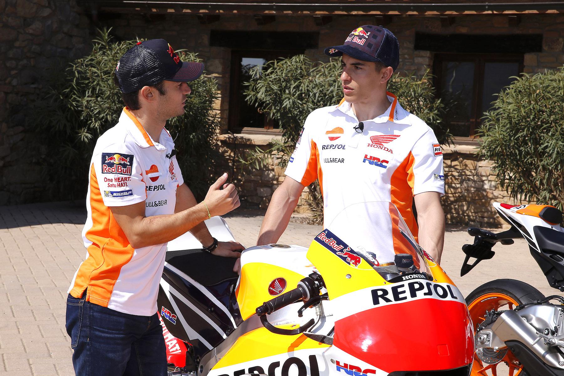 Marc Márquez y Dani Pedrosa, ¿en qué se diferencia su MotoGP de una de calle?