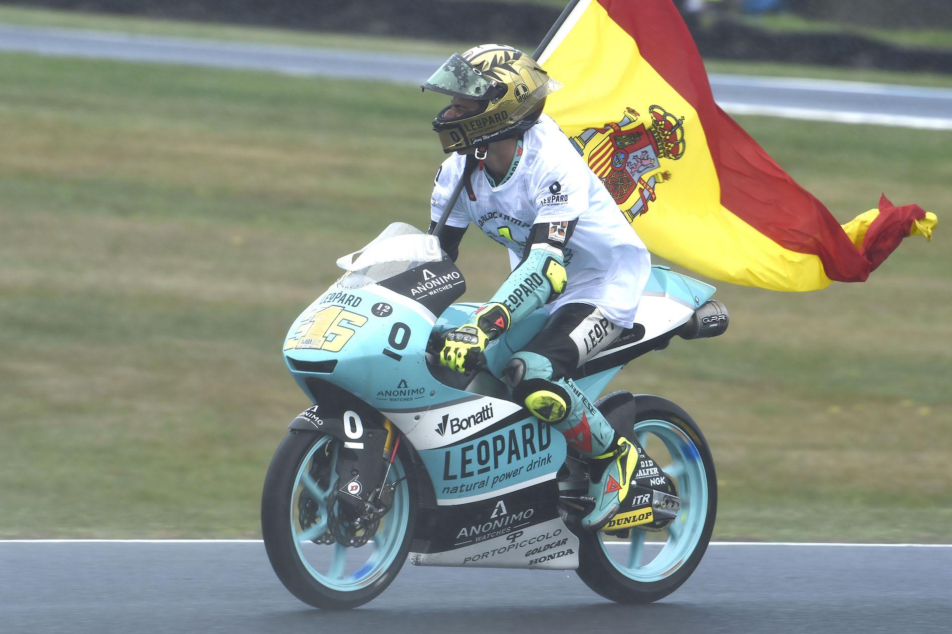 Joan Mir, campeón del mundo de Moto3 2017