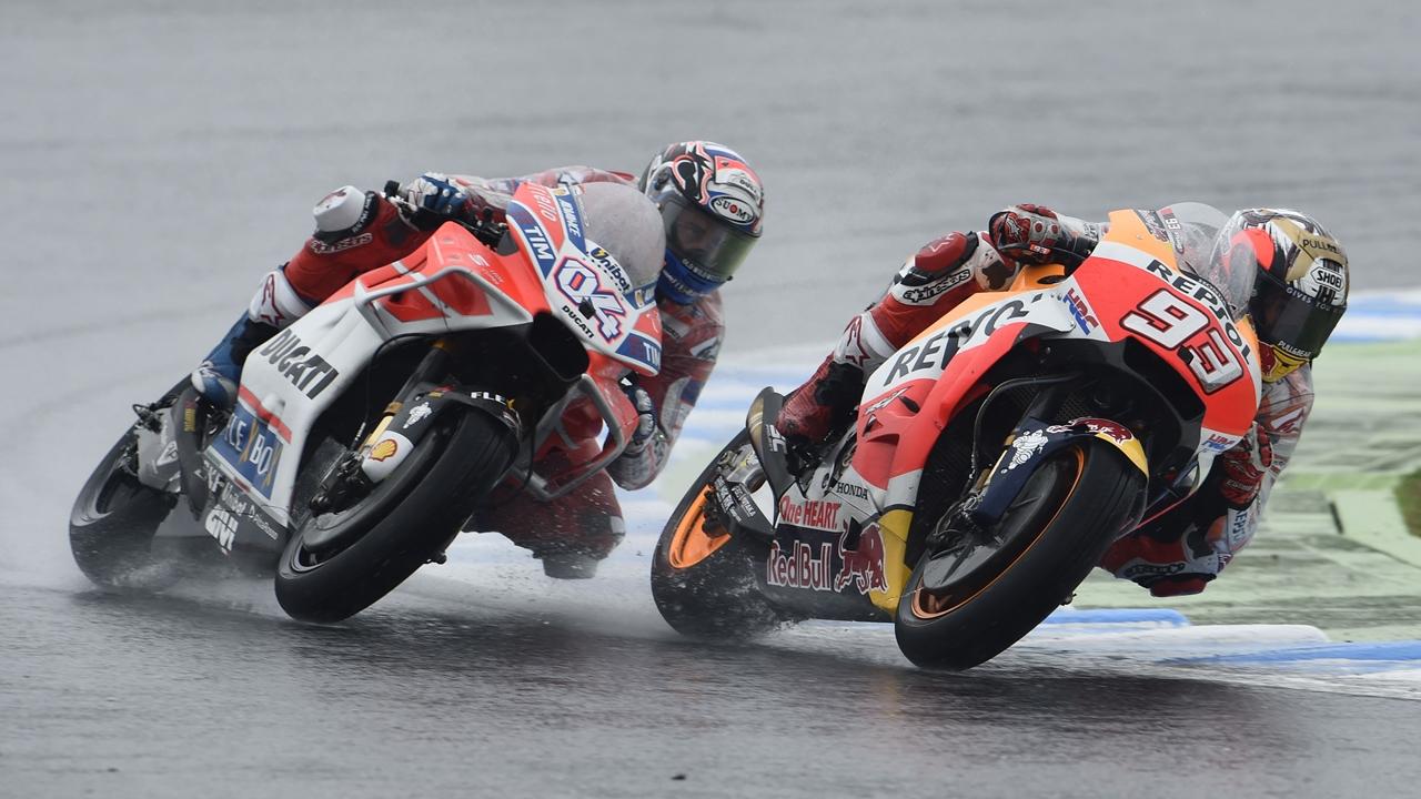 Vídeo: Andrea Dovizioso vs Marc Márquez, la batalla final en el agua de Japón
