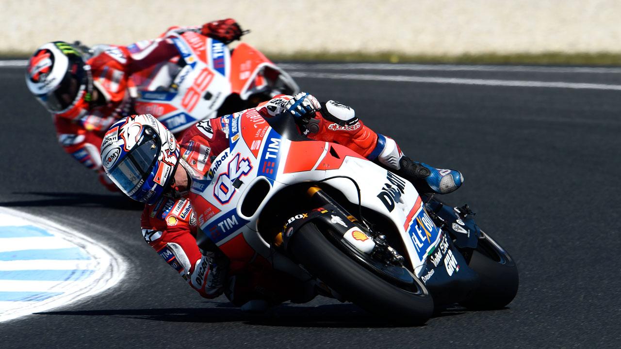 Andrea Dovizioso, la excepción que confirma la regla Ducati en Phillip Island