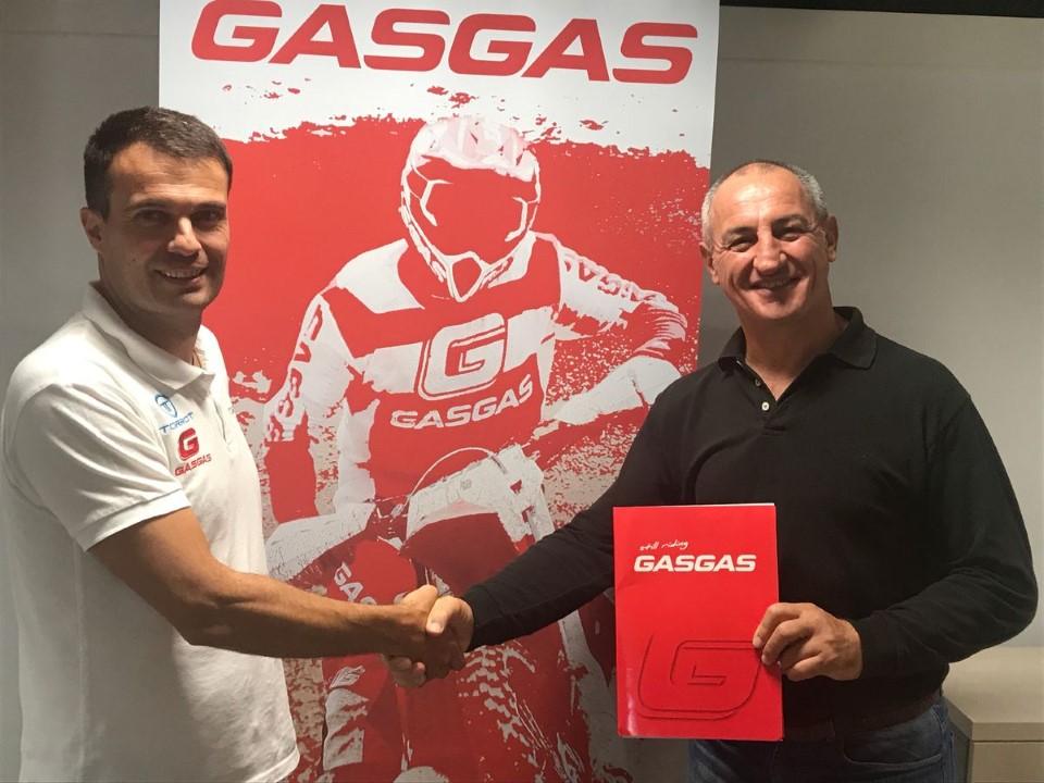 Gas Gas refuerza su estructura de enduro y raids: Giovanni Sala, Johnny Aubert y Christophe Nambotin fichajes destacados.