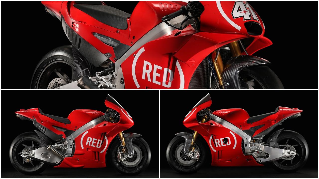 Aprilia MotoGP correrá en Valencia con su decoración (RED) contra el SIDA