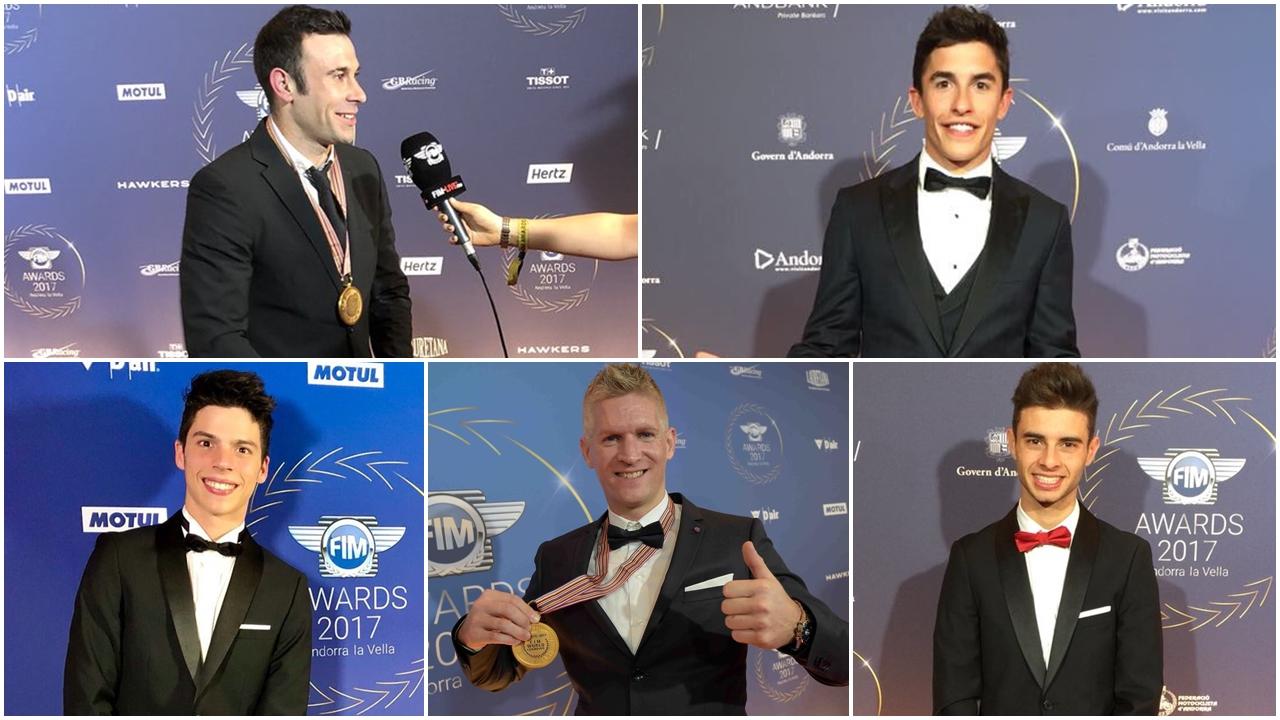 Siete pilotos y dos equipos españoles, galardonados en los FIM Awards 2017