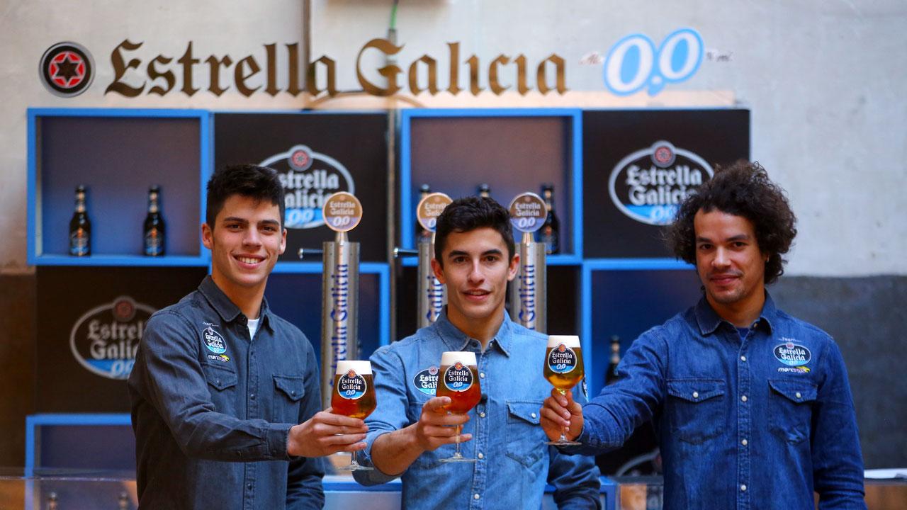 Márquez, Morbidelli y Mir, un brindis de campeonato