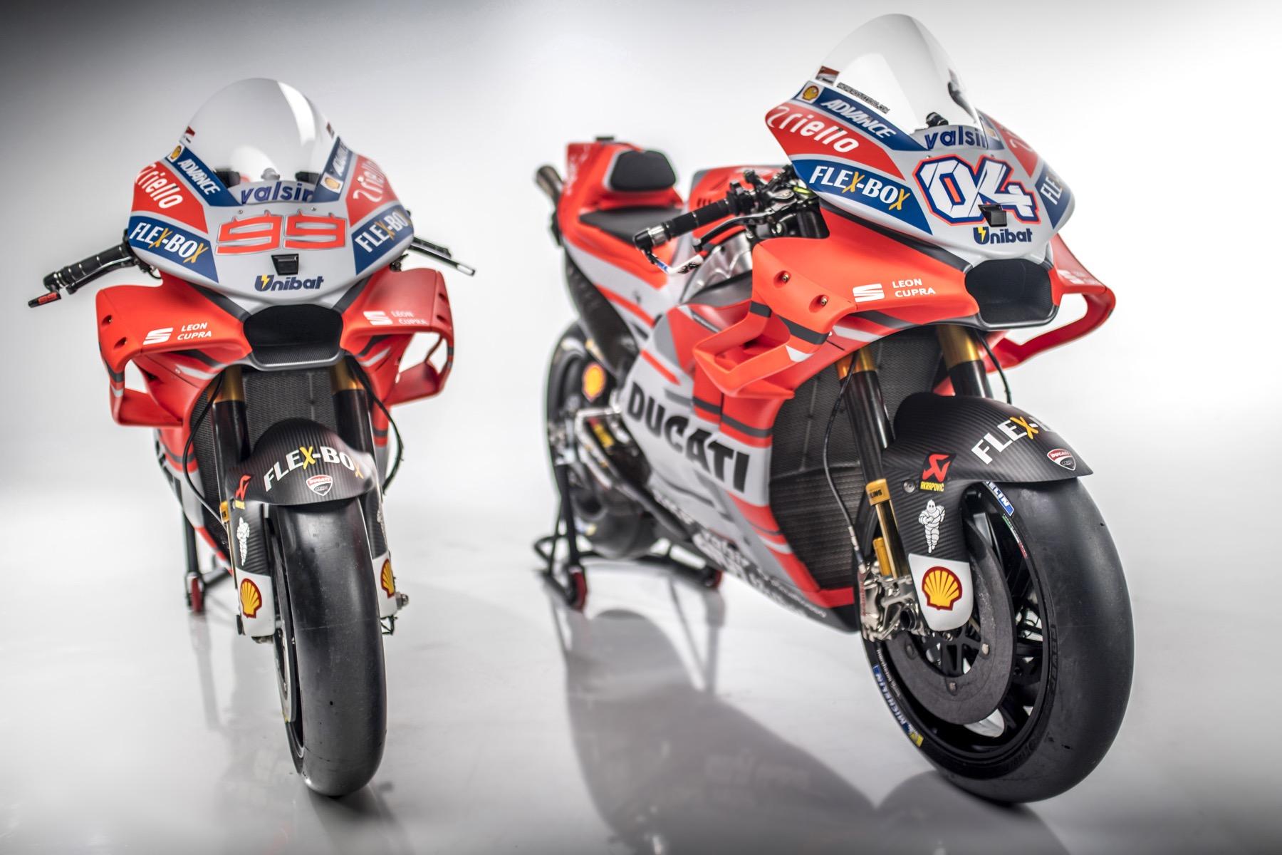 Ducati presenta la Desmosedici GP18 con Andrea Dovizioso y Jorge Lorenzo