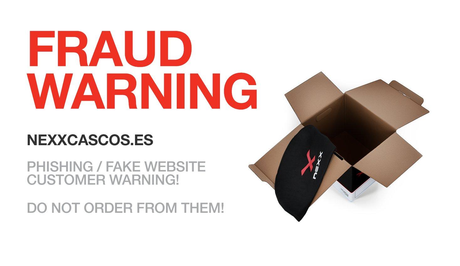 Nexx alerta: una web está vendiendo cascos falsos y roba tus datos bancarios