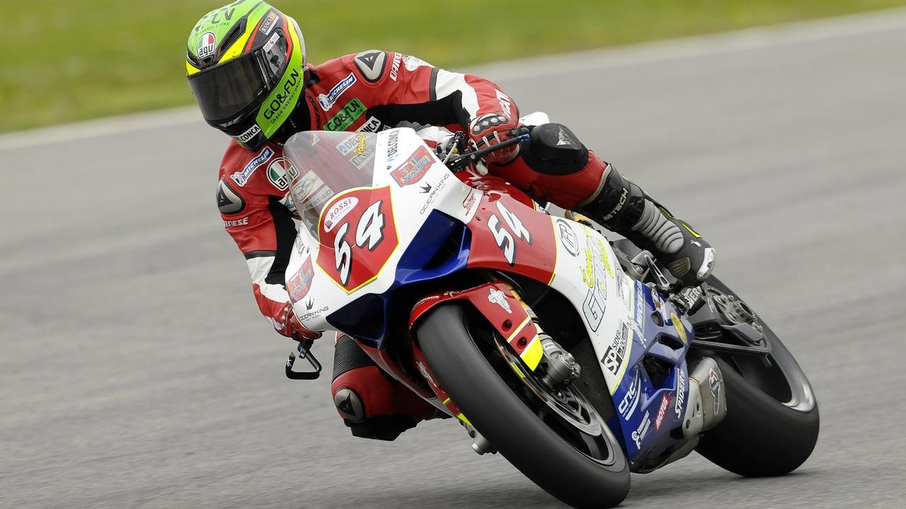 Manuel Poggiali vuelve a correr en un mundial de motociclismo una década después