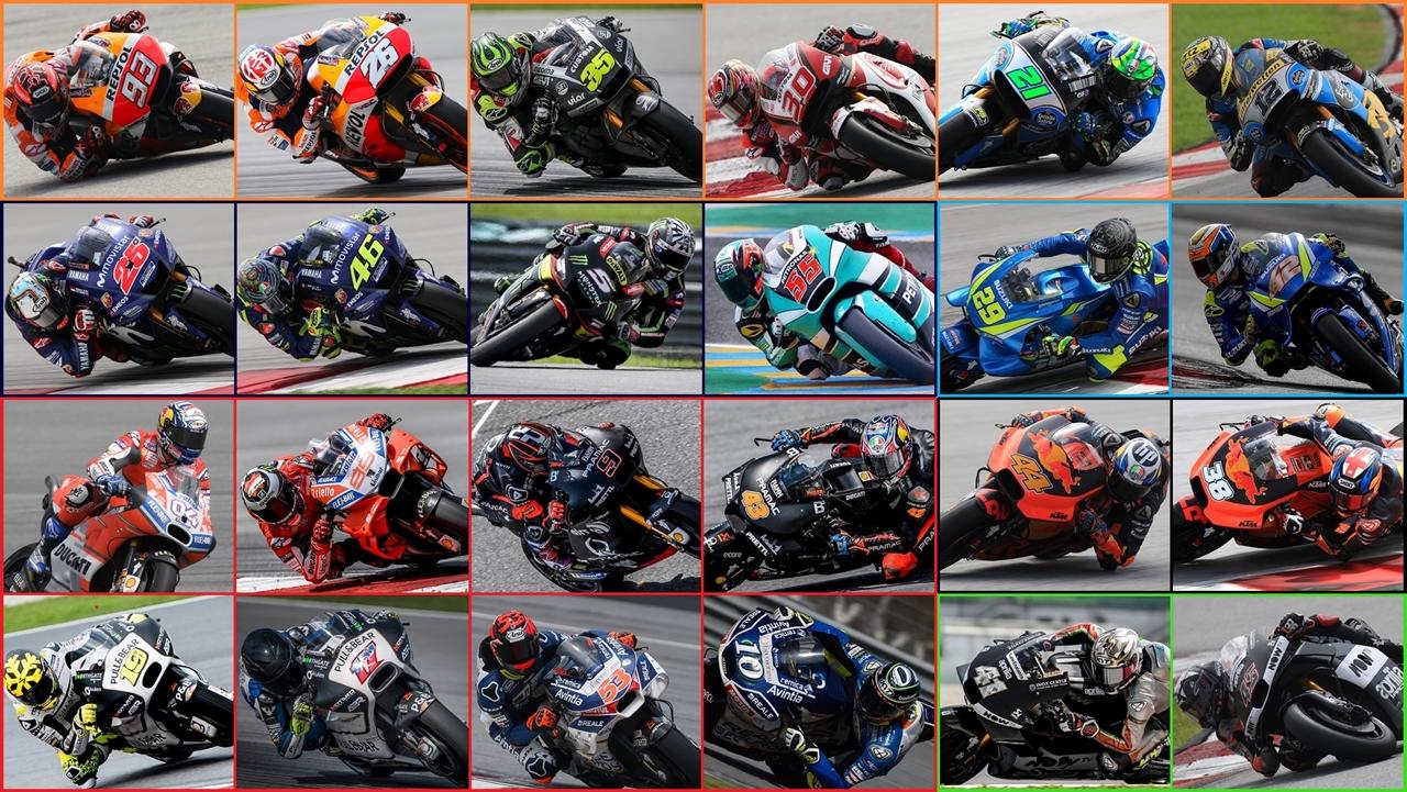 MotoGP 2018: Los 24 pilotos