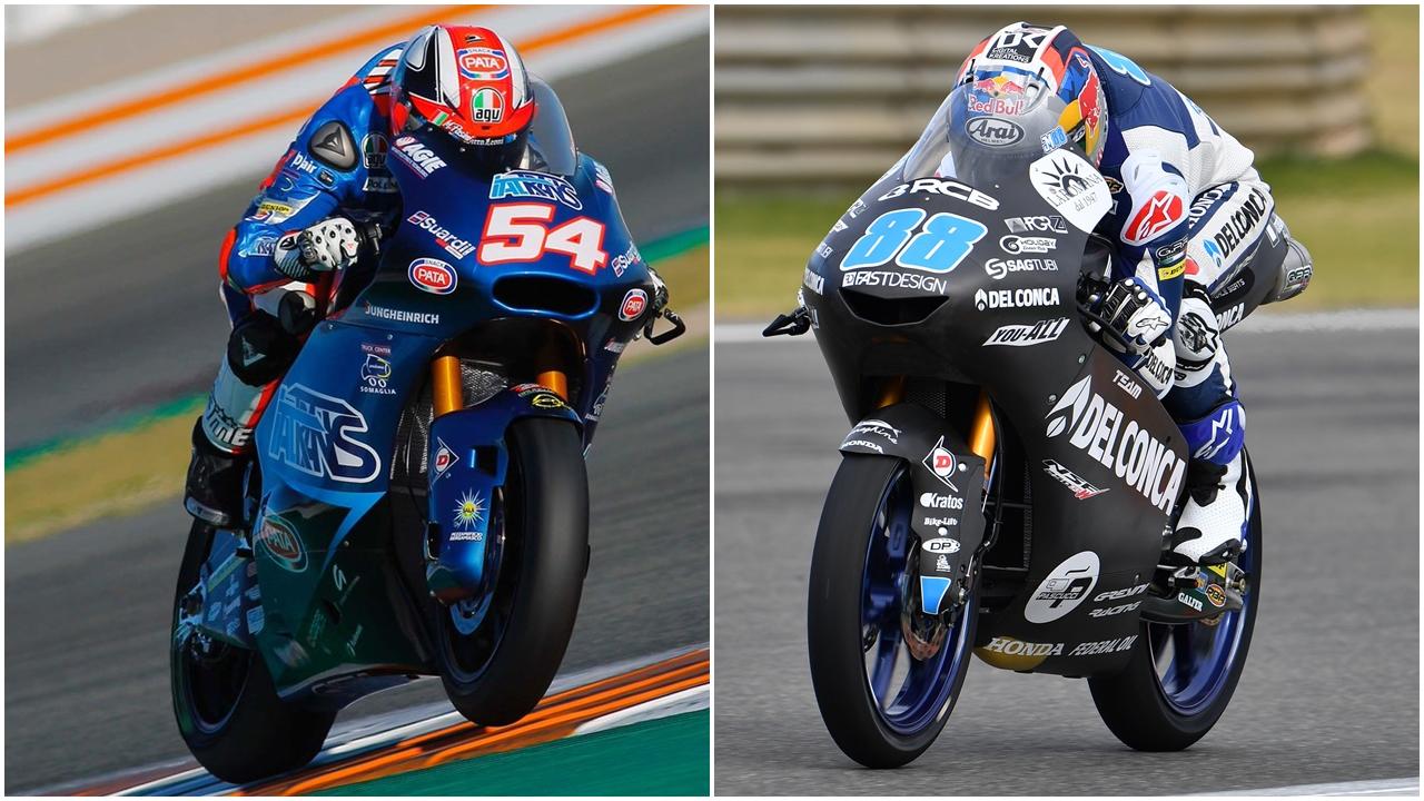 Mattia Pasini y Jorge Martín acaban como los más rápidos en los primeros test de 2018