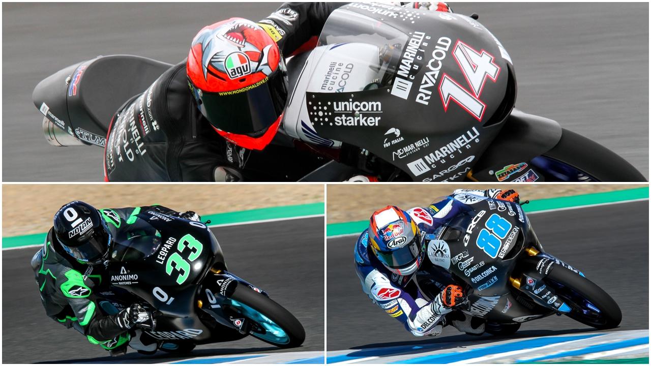 Tony Arbolino sorprende y Enea Bastianini y Jorge Martín se postulan a ganar Moto3 2018
