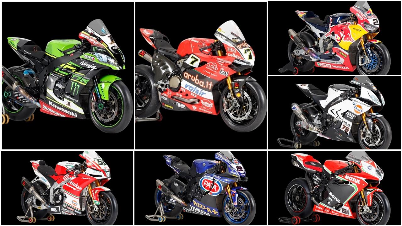 Las motos del Mundial de Superbike 2018