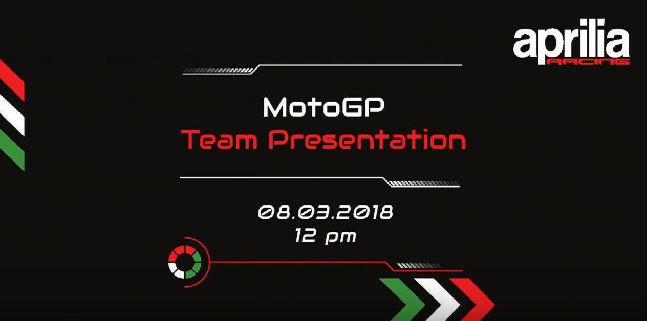 Vuelve a ver la presentación del equipo Aprilia de MotoGP