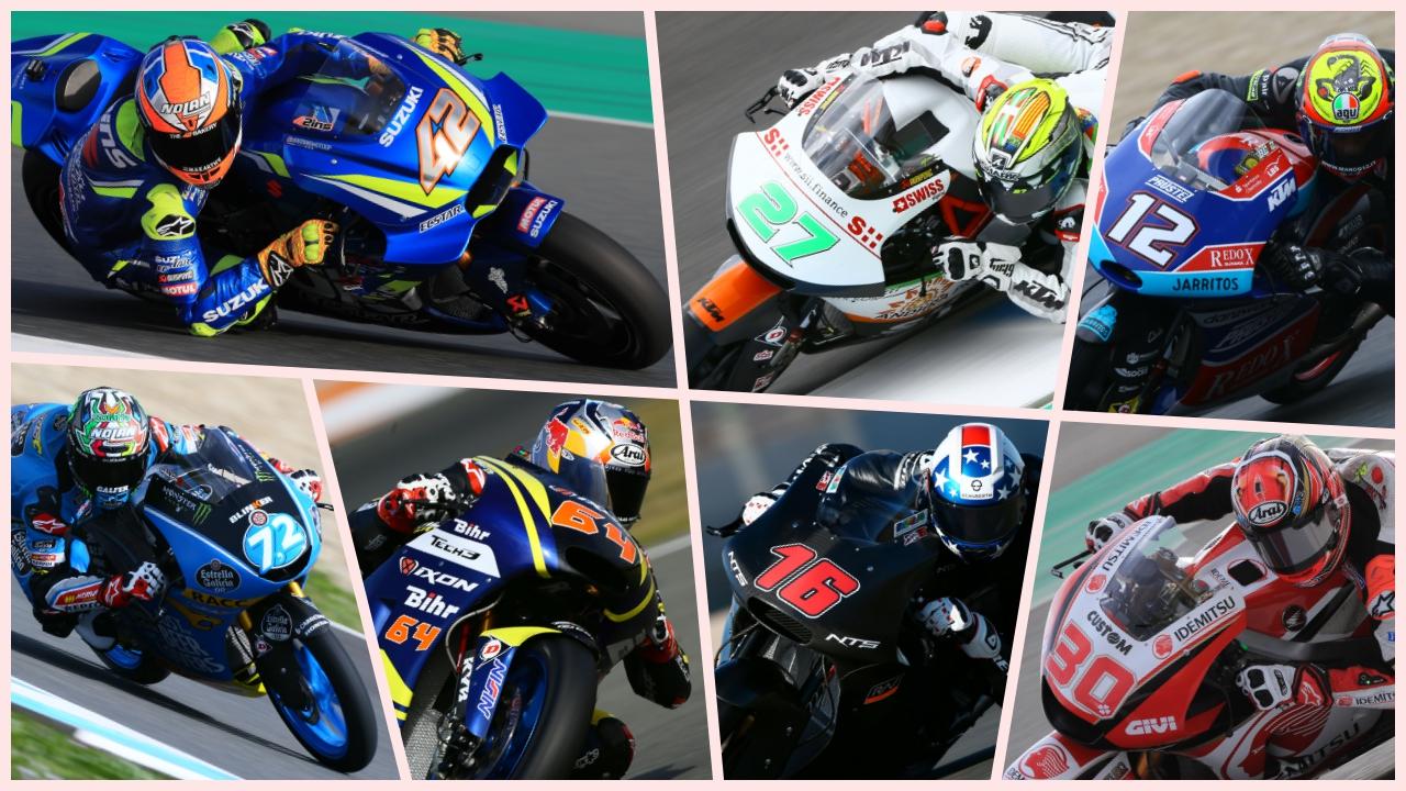 Los 7 pilotos tapados de MotoGP 2018