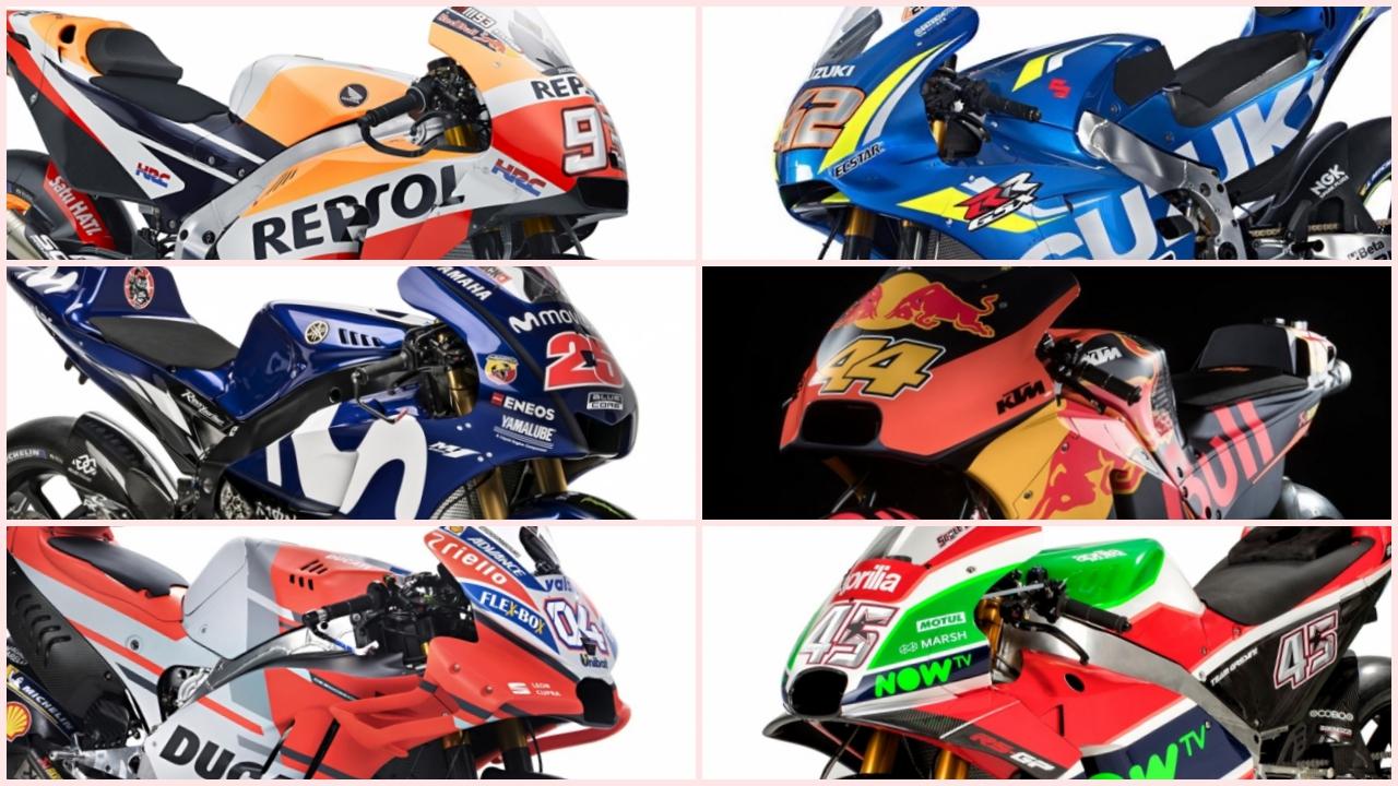 Las motos del Mundial de MotoGP 2018