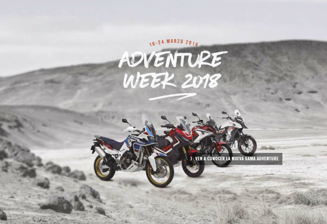 ¡Disfruta de la Adventure Week de Honda!