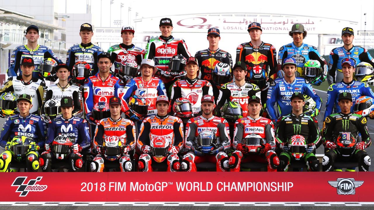 Los pilotos de MotoGP 2018, en números