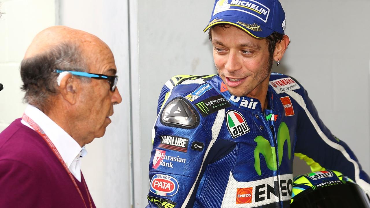 Valentino Rossi, Carmelo Ezpeleta y Paco Pacheco, Premios del Motor Ciudad de Jerez