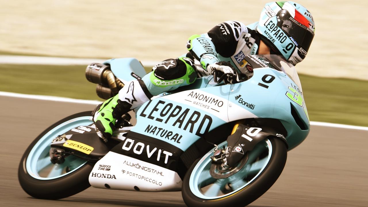 Enea Bastianini comanda el viernes de Moto3 en el Gran Premio de Argentina