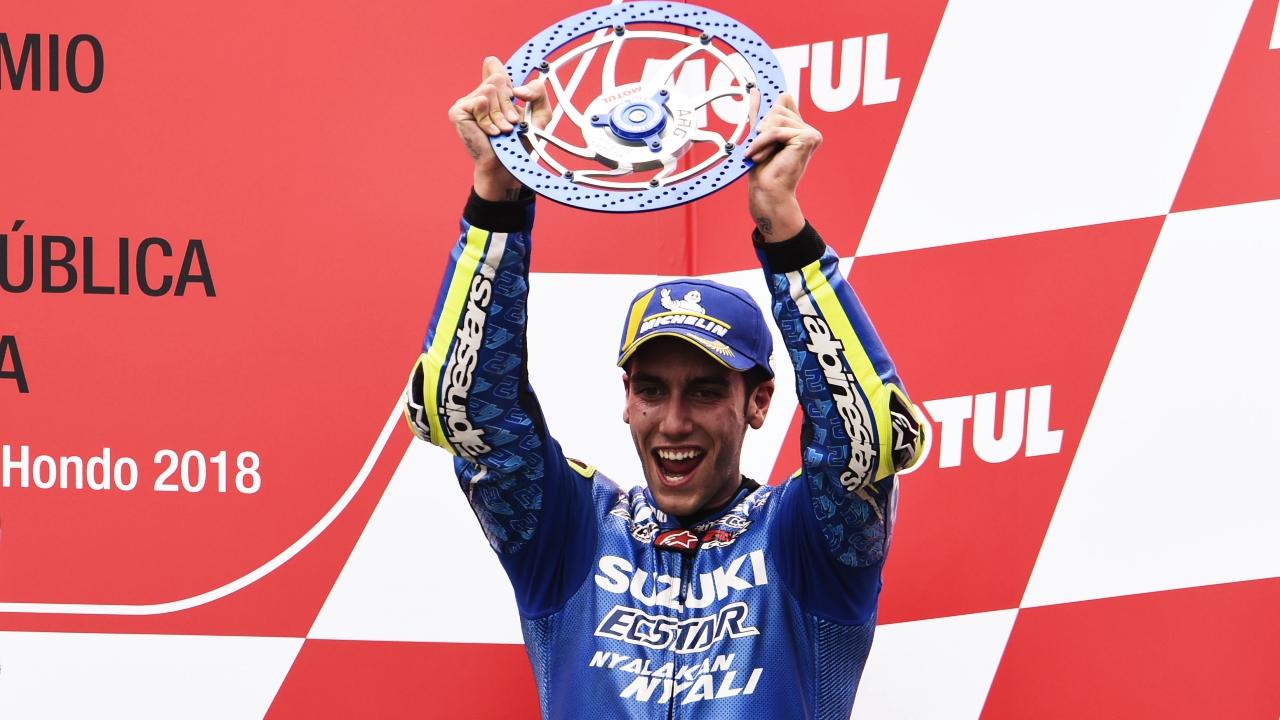 Álex Rins se une al club de los españoles que han subido al podio en clase reina