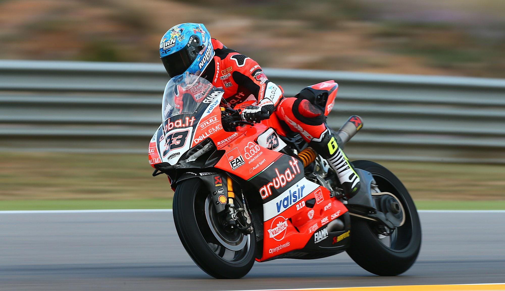 Marco Melandri domina Aragón horas antes de la primera carrera
