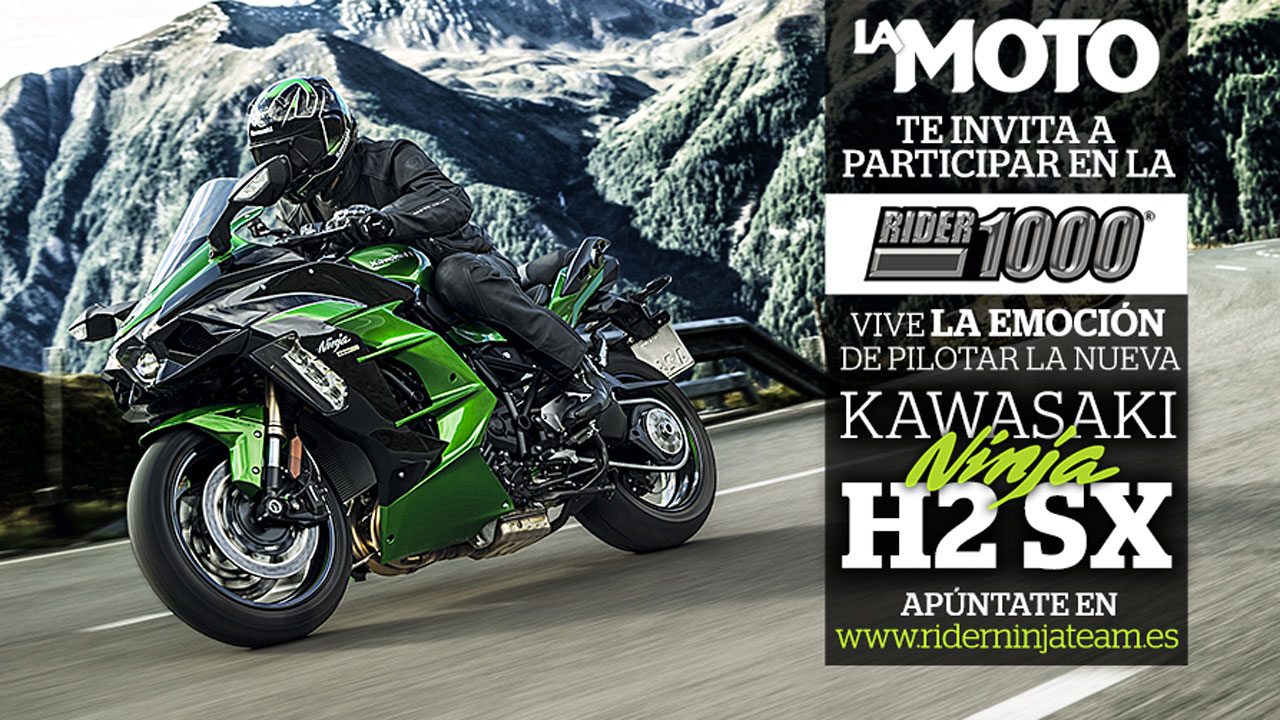 Participa en la Rider 1000 con la revista La Moto y Kawasaki