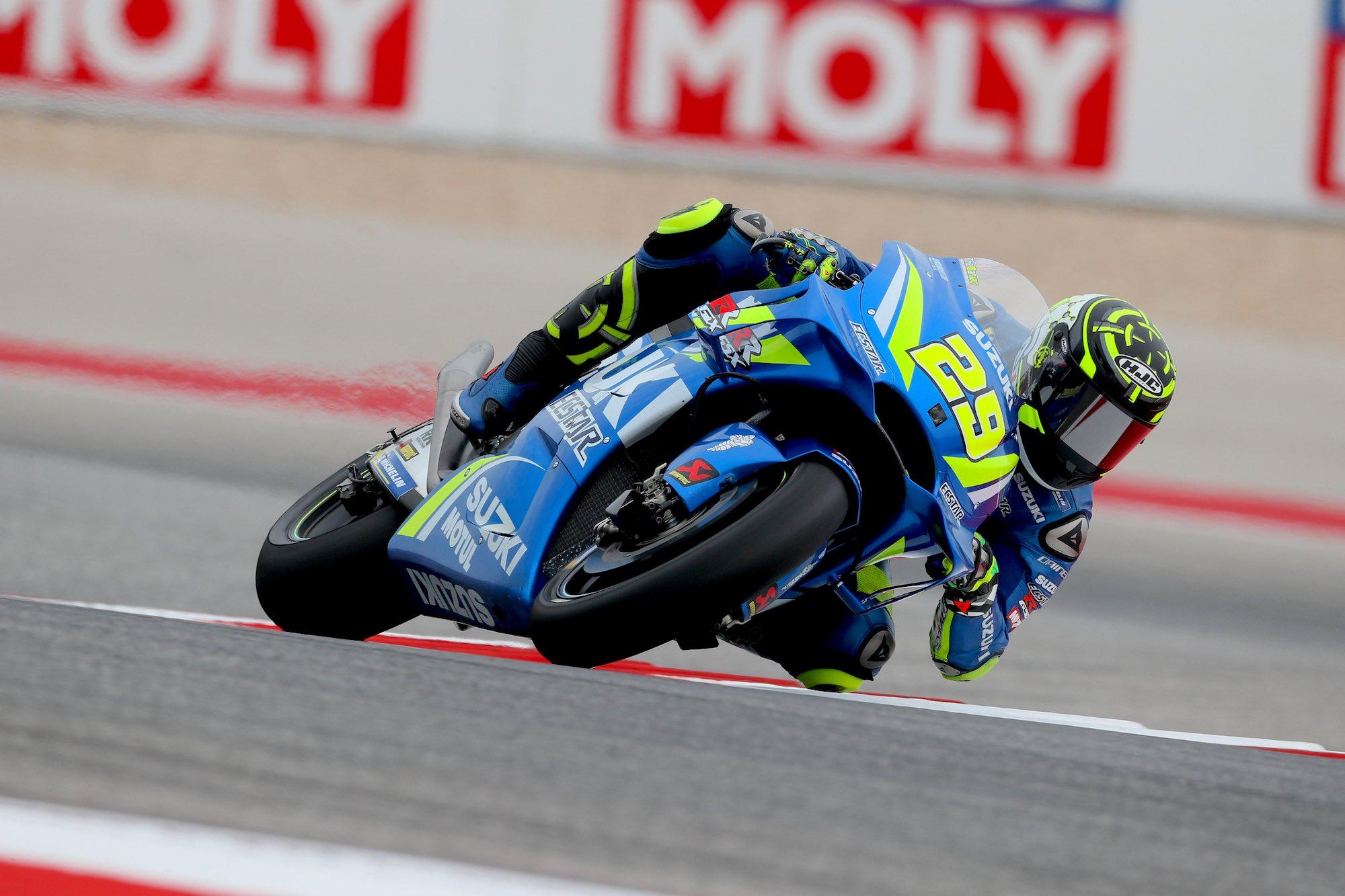 Andrea Iannone golpea primero en MotoGP Austin 2018