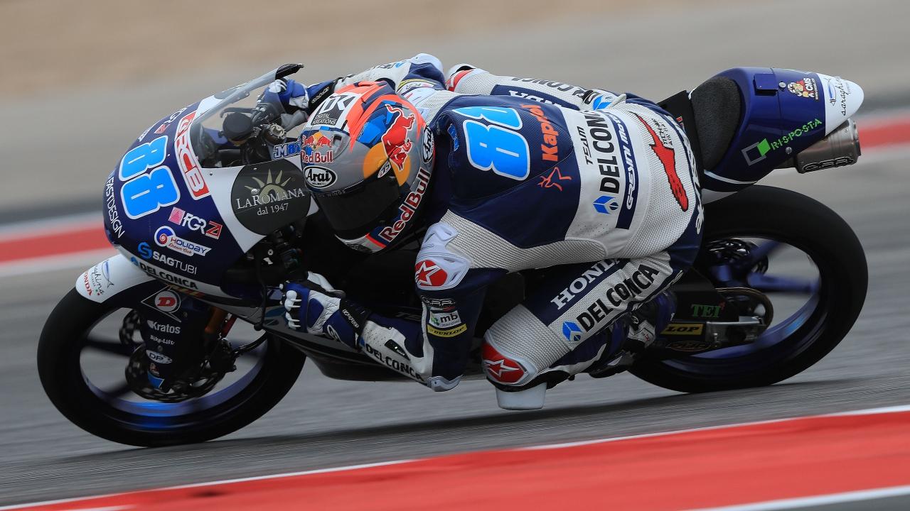 Jorge Martín se exhibe en Austin y recupera el liderato de Moto3 2018