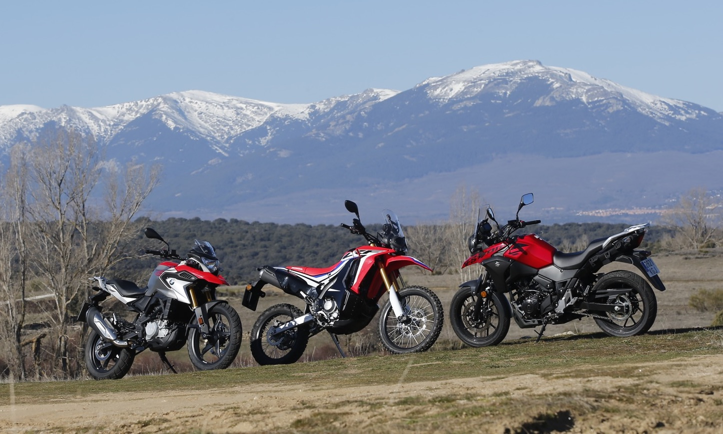 Comparativa trail: BMW G 310 GS vs. Honda CRF250 rally vs. Suzuki V-Strom 250