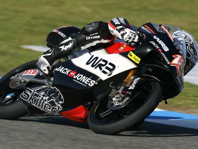 Nico Terol (Aprilia), a ritmo de pole en los cronometrados 1 del GP de Jerez
