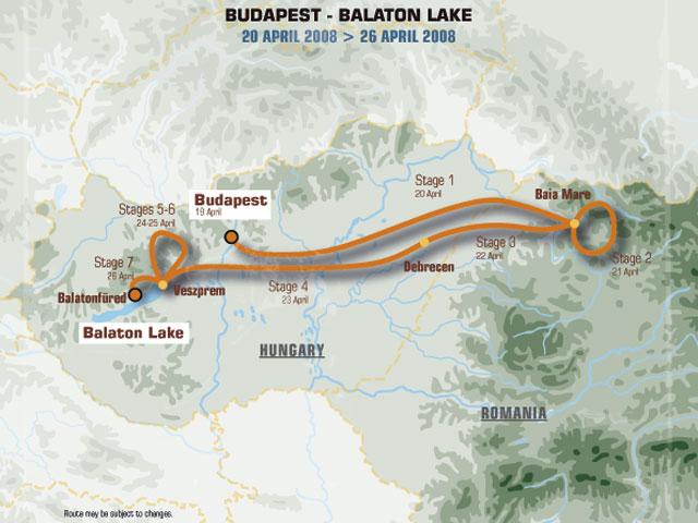 Cambio de ruta en el Rally de Europa Central