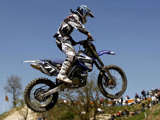 Podio de Butrón (Yamaha) en el Europeo de MX2