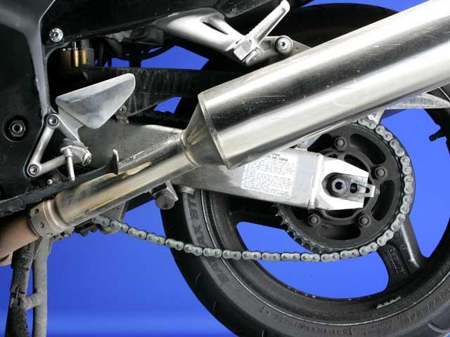 Mantenimiento moto: cadena secundaria
