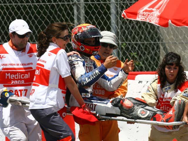 Jorge Lorenzo (Yamaha) sufre una nueva caída