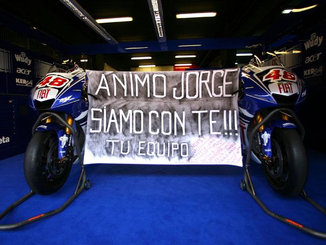 Jorge Lorenzo se recupera satisfactoriamente de su caída en MotoGP