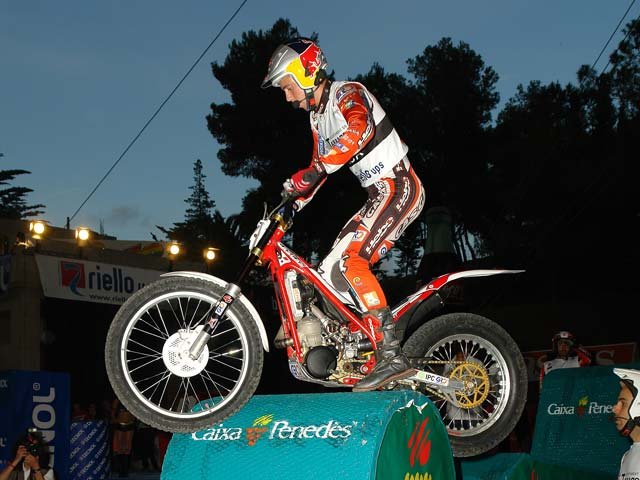 Adam Raga (Gas Gas), victoria en el Campeonato de España de Trial Indoor